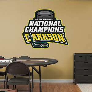 Clarkson Golden Knights - 2014 Women's Hockey National Champions Logo Fathead Wall Decal